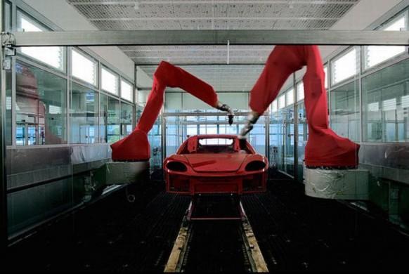 Rot-Farbe-Ferrari