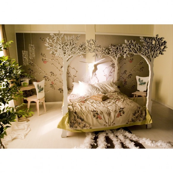 tolle beige Schlafzimmer