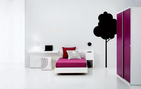 schöne lila teenager-Zimmer