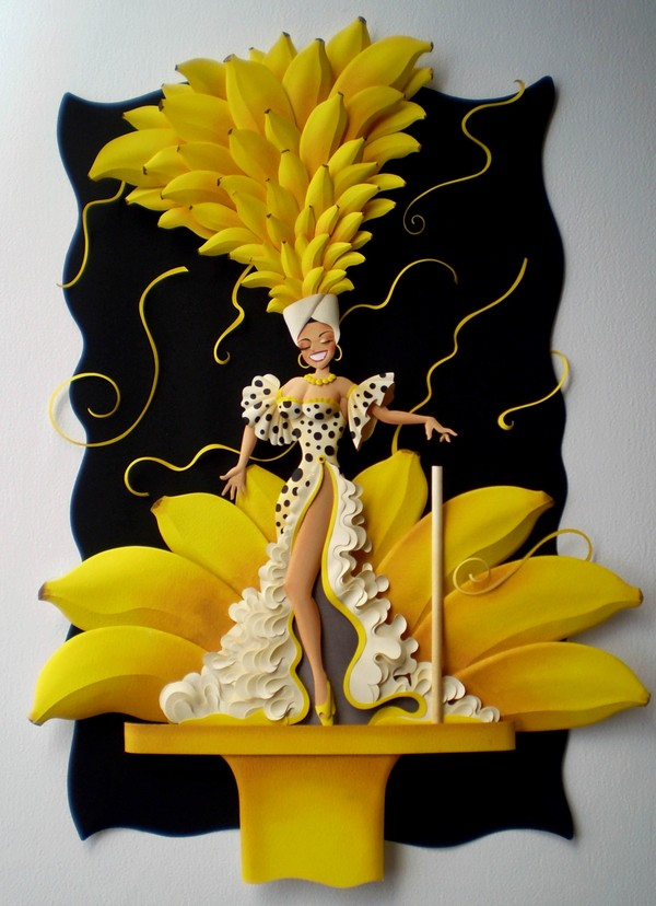 Beautiful Color Paper Sculptures