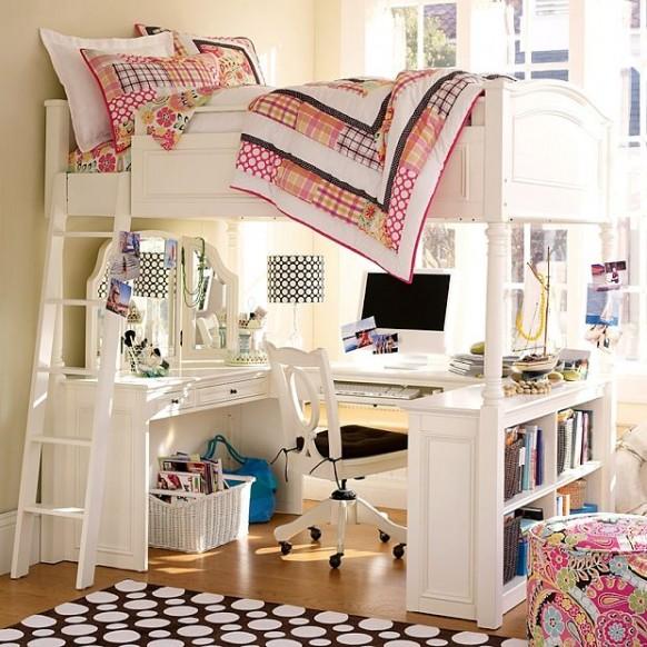 weiße bunker-Betten
