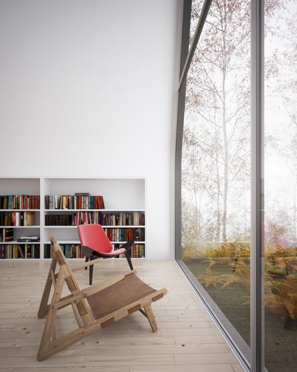 Stühle in der Bibliothek