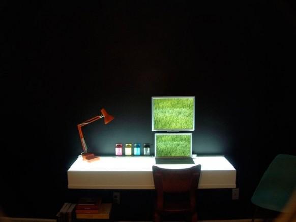 farbenfrohe Schreibtisch