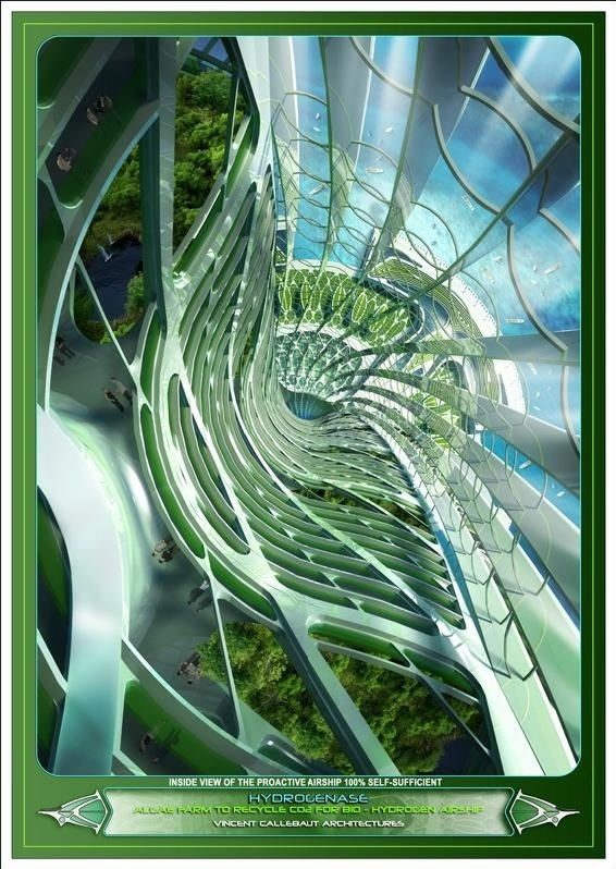 Futuristic Nature House Design: Artsy Achitecture: Hydrogenase, Algae Farm By Vincent