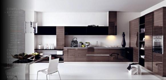 moderne braune Küche