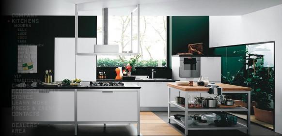 moderne grüne Küche