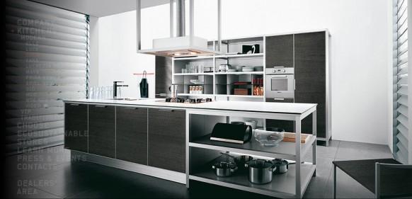 moderne Insel-Küche