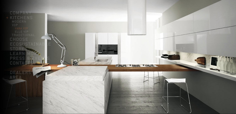 White Gloss Italian Kitchens