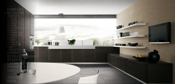 moderne minimalistische Küche