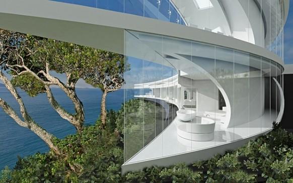 Ozean Haus Wald