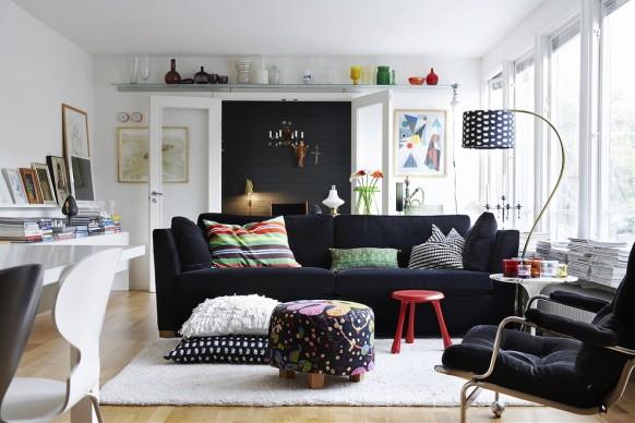 skandinavischen Stil eingerichtet Familienzimmer