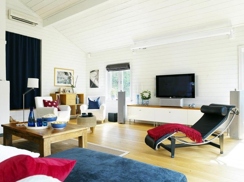 attic room designs tumblr - Scandinavian Living Room Entertainment Setups