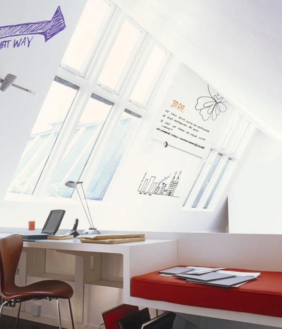 Dachboden-und Wandflächen