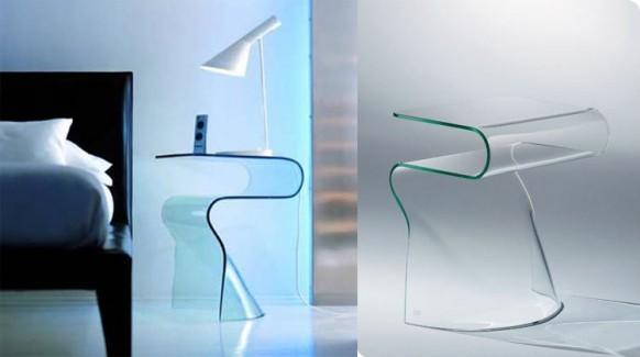 Glas-Beistelltisch