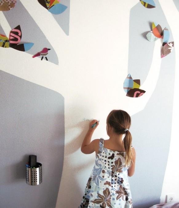 kids Schlafzimmer Wand