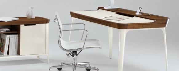minimalistische Ausarbeitung Schreibtisch