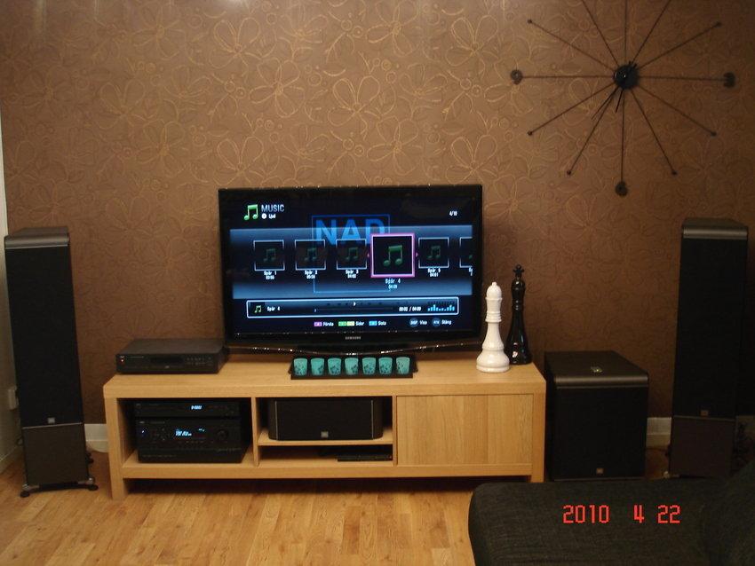 Scandinavian Living Room Entertainment Setups