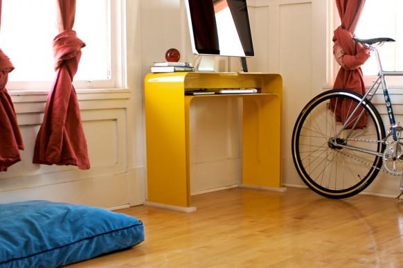 gelb minimalistische Schreibtisch