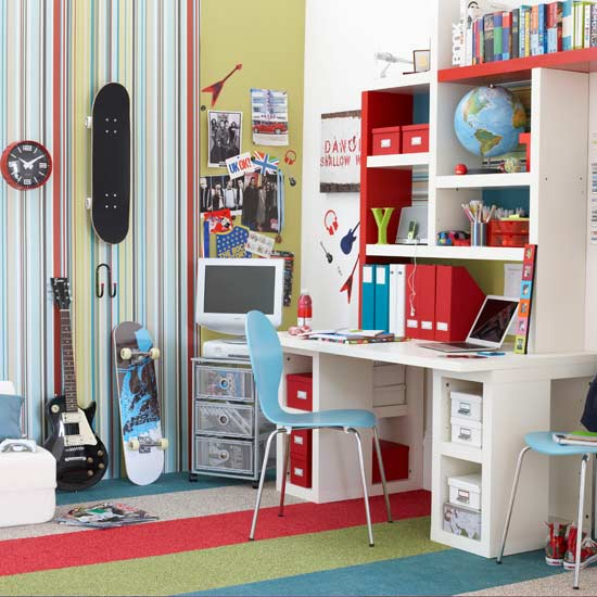 17 Cool Teen Room Ideas: Kids' Room Decor: Themes And Color Schemes