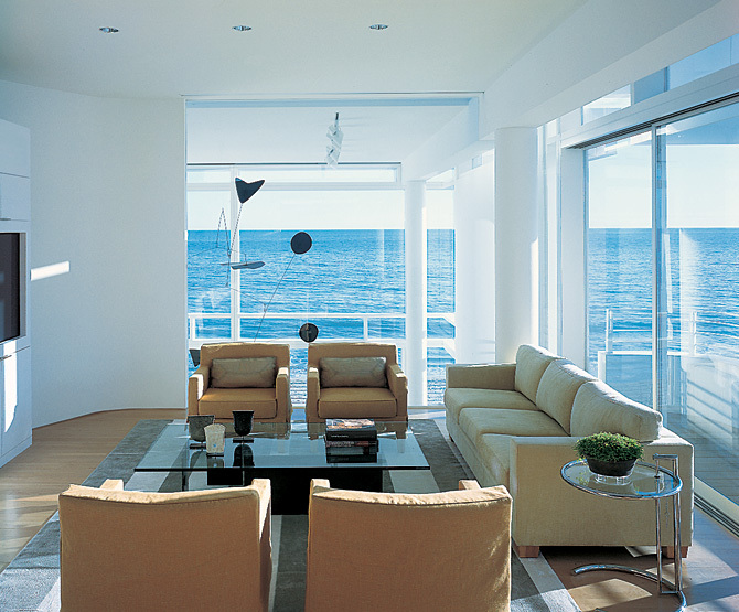 Beachfront house in california - Modern beach house interior ...