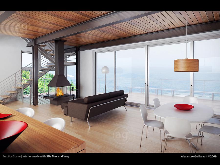 By alexandre guilbeault · modern theme living room