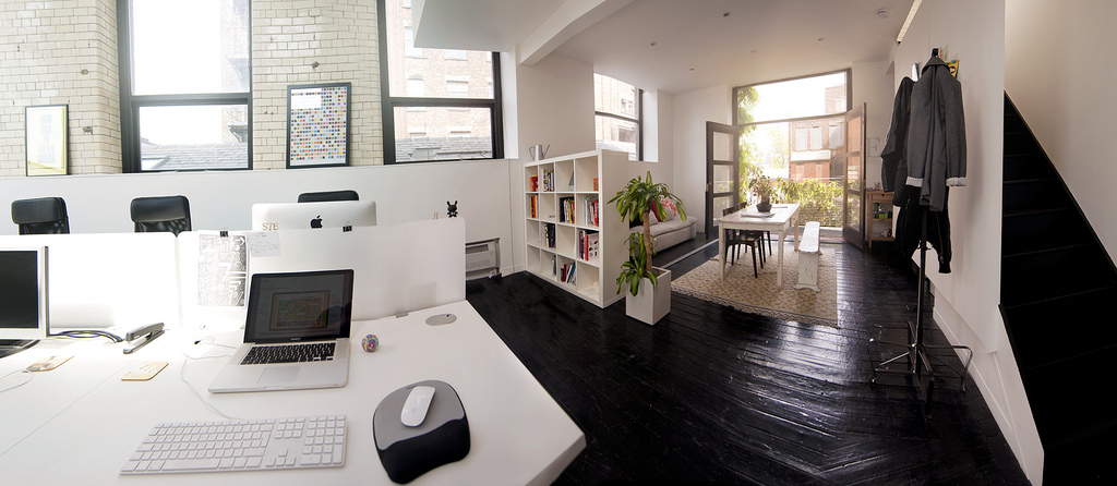 office space of creative studio raw