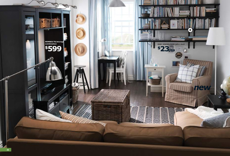 22 Inspirational Ideas Of Small Living Room Design: IKEA 2011 Catalog [Full]