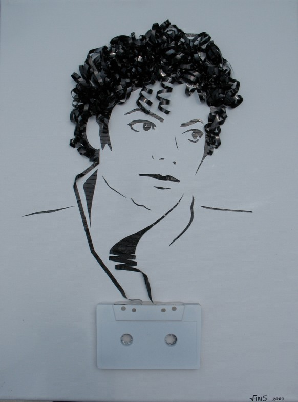Stunning artwork famous personalities scenes recreated from tape paper