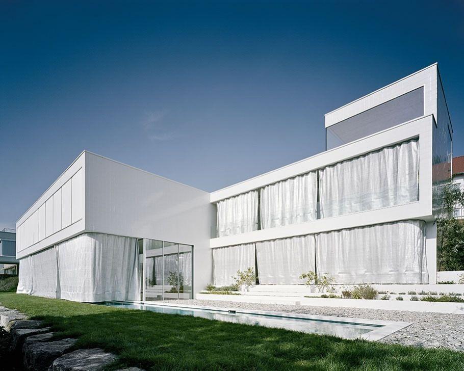 modern minimalist german architecture germany haus georg spreng dream paradise houses curtain cubista estilo architects casa building glass facades designs