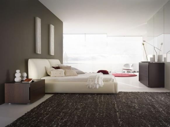 ultra moder-schwarz-Schlafzimmer