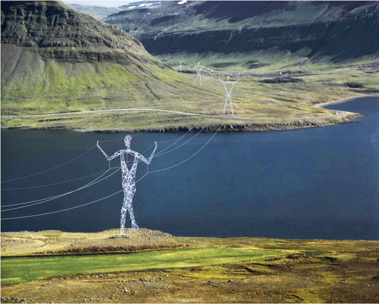 Super creative electricity transmission line towers
