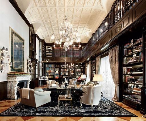 Luxus-Haus-Bibliothek