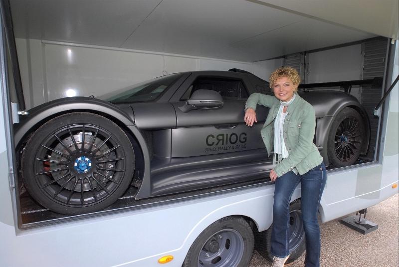Luxury sports car caravan