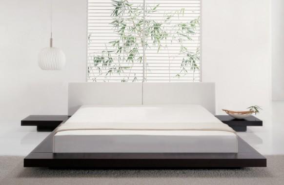 heiteren weißen Schlafzimmer