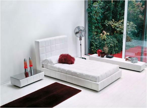 weiß-Bett-Ecke-Garten