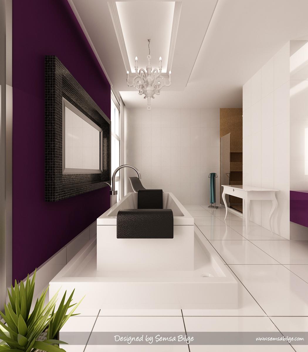 Purple And Black Bathroom: Black White And Purple Bathroom 2017