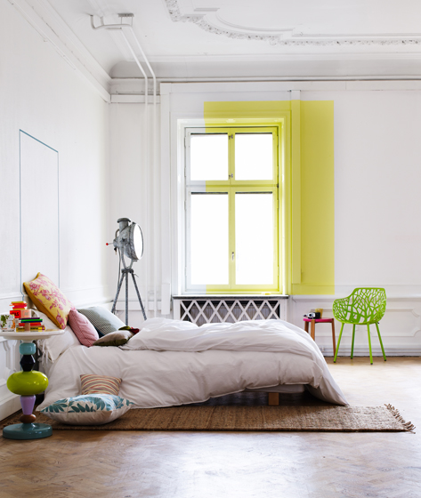 Splash Colorful Room Wall: Rooms With A Dash Of Color Splash