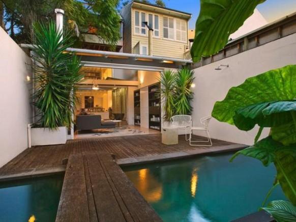 Innenhof mit pool design