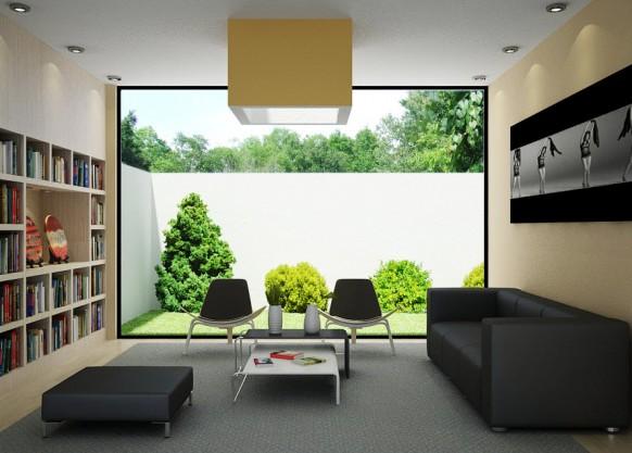 Wohnzimmer-Lesung-Bibliothek