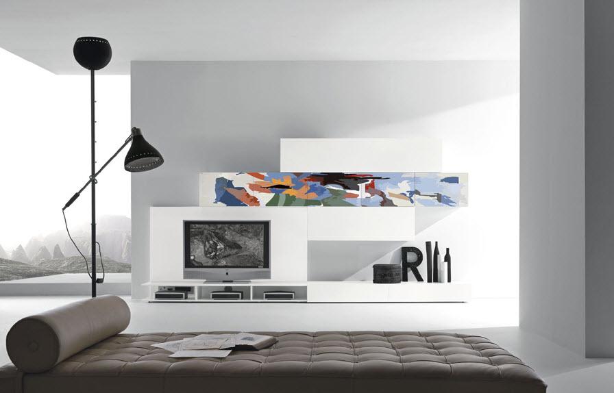 Modern artistic furniture designer wall unit