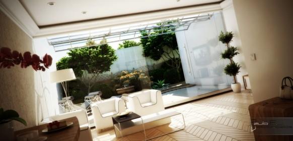 Innenraum privaten Innenhof