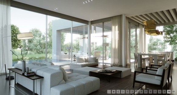 awesome black living room 3d model | 3D Interior Design Inspiration