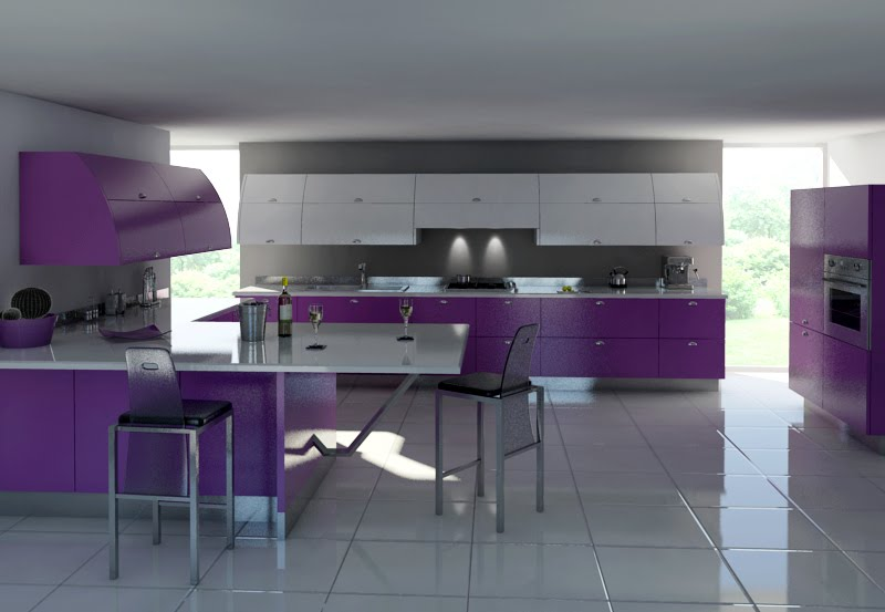 Kitchen Purple Accents