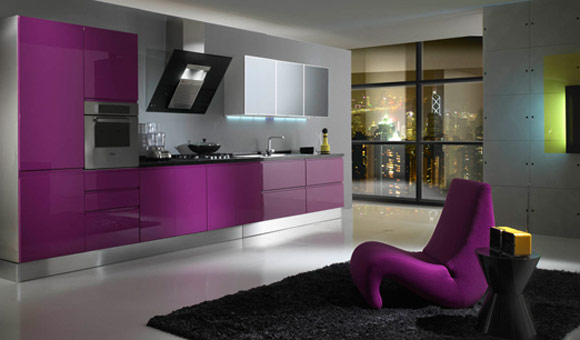Kitchen Purple Accents
