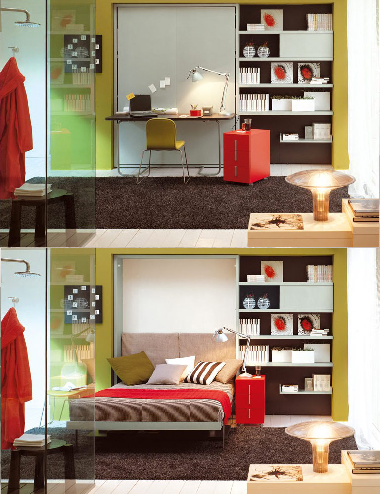 bed-study-furniture for small rooms