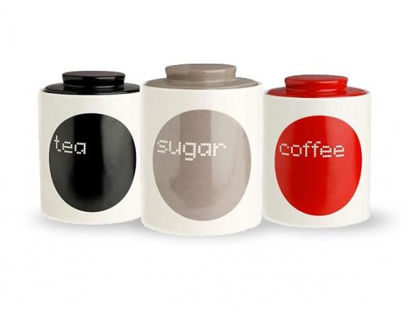Баночки для чая, кофе и сахара.