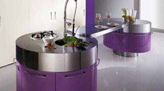 Purple Kitchen Designs Interior Design Ideas