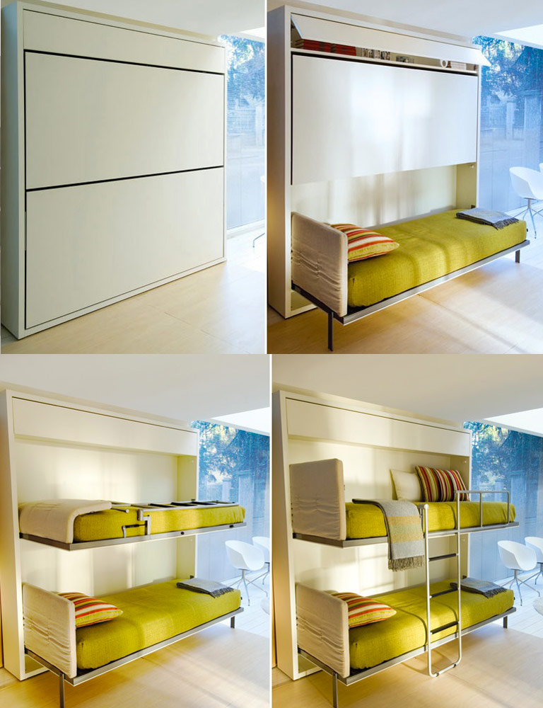 Space saving bed - Space saving bunk beds for small rooms ...