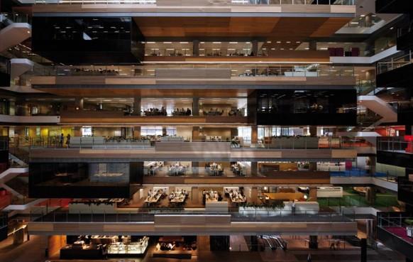 ANZ business-Center atrium-modernes Büro