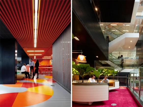 ANZ business Center farbenfrohe und moderne Büroflächen
